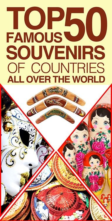 Top 50 Famous Souvenirs Of Countries All Over The World