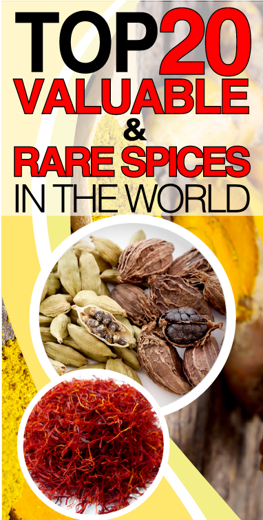Top 20 Valuable and rare spices